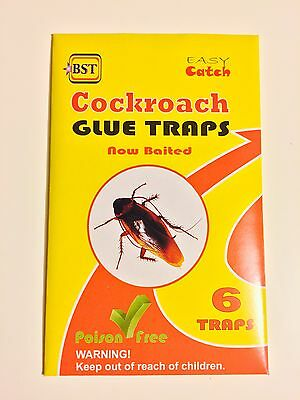 6 Cockroach Glue Traps Spider Ant Woodlice Pest Control Insect Bug Killer