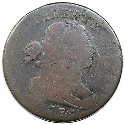1796 Draped Bust Large Cent, Reverse of '94, S-110, R.3, LDS, AG-G