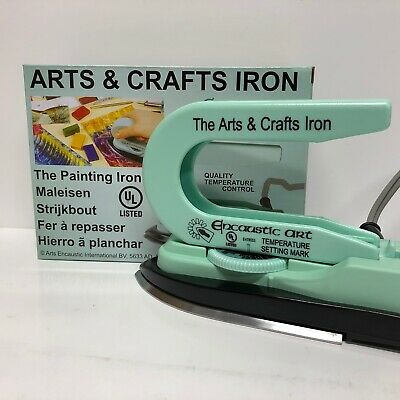 Brand New Encaustic Arts & Crafts Iron with Adjustable Temperature Dial 120v