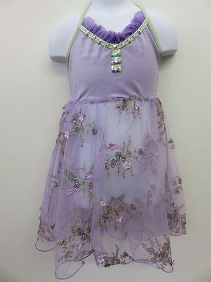 Dance Costume XL Child Lavender Lyrical Top/Dress Lace Solo Competition Pageant