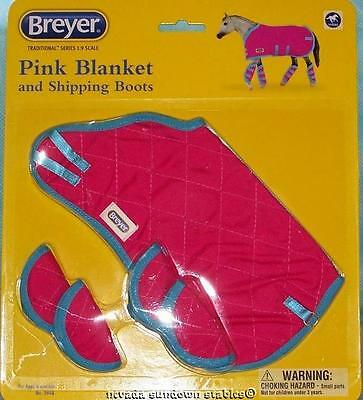 Breyer Model Horse Accessories Traditional size Pink Blanket & Boots