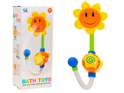 Bath Toy Coloured Sunflower for children gift present fun in the bath water toy