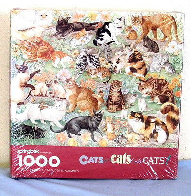 Springbok 1000 Pieces Cats Cats Kittens Kittens PZL6117 Sealed