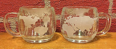 Vintage Set of 2 Nestle World Coffee Cups  Very Good Condition