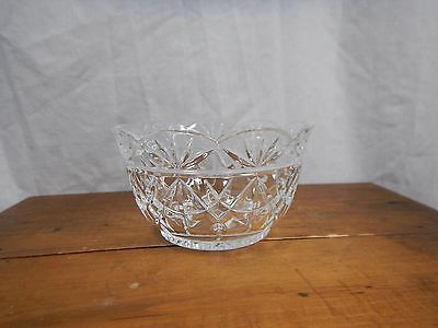 """Pressed Clear Glass Candy Bowl 5"""""""