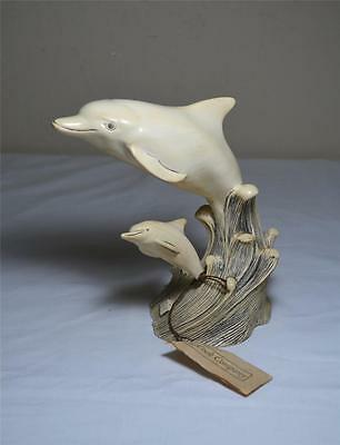 Mother & Baby Dolphin/Bottle Nose Porpoise Sculpture by G.H. Cook Fine Art Co.