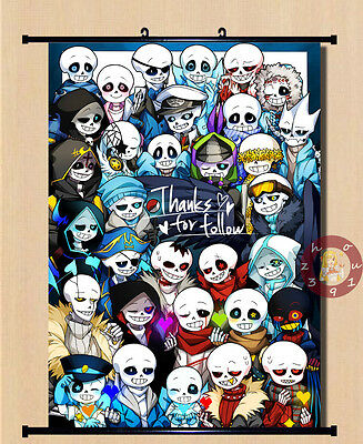 Anime Undertale Sans/Papyrus Home Decor Poster Wall Scroll 40*55cm#DD-P73