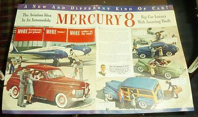 1941 Mercury 8 Automobile 2 Page Ad