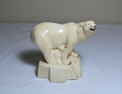 Polar Bear & Babies Sculpture by G.H. Cook Fine Art Co.