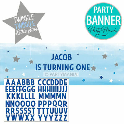 One Little Star Boy 1St Birthday Baby Shower Party Supplies Giant Party Banner