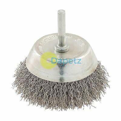 Rotary Stainless Steel Wire Cup Brush 75mm Grinding Wire Cups Brand New