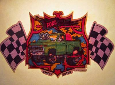 Vtg T-Shirt Iron On Heat Transfer Small Ford Truck Chevy Eater 1976 Rats Hole