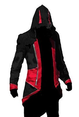 Assassin's Creed 3 Conner Kenway Hoodie Jacket Coat Cloak Costume Cosplay size M