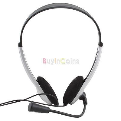 Stereo Headphone Headset Earphone with Microphone for PC Laptop Computer UK OF