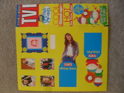 Britney Spears Vintage Import TV HITS Magazine Pop Out & Songfiles 7