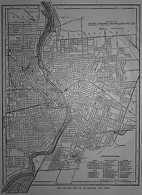 Antique / Vintage 1917 Rochester, New York Atlas Map NY & Rome, Italy WWI L@@K!