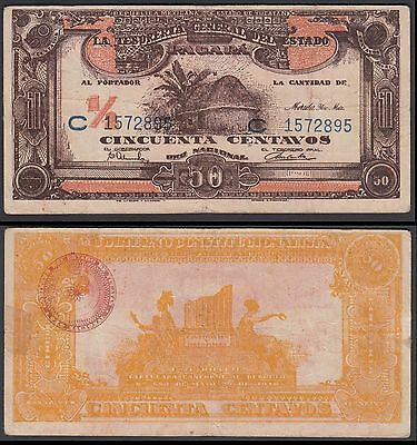 MEXICO Revolutionary Money 50 Centavos, 1916, YUCATAN, M-4130a