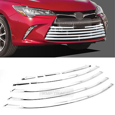 Chrome Silver Front Radiator Grille Garnish Molding 10P for TOYOTA 2015-16 Camry