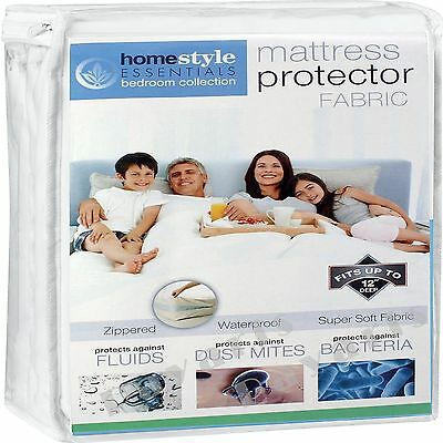 Zippered Fabric Mattress Protector Waterproof Bed Bug Allergy Dust