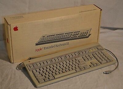 Apple Extended Keyboard II M3501 Classic in ORIGINAL BOX! Ready! Ships FAST