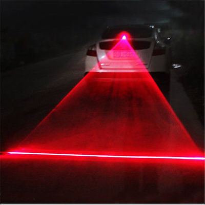 Car Red Laser Beam Alarm Fog Light Anti-Collision Taillight Warning Lamp Safety
