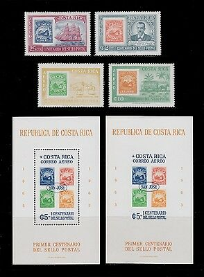 1963 Costa Rica San Jose Stamp Exhibition Ss Nh  Scott  - C362 -C365 , C366
