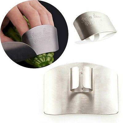 Stainless Steel Finger Hand Protector Guard Slice Chop Shield Kitchen Tool
