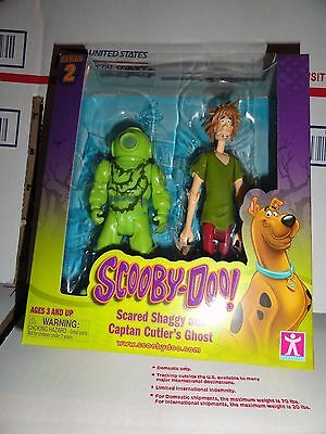 Scooby Doo Series 2 Scared Shaggy And Captan Cutlers Ghost New Free Shipping