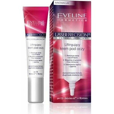 EVELINE Laser Precision Lifting Eye Cream With Hyaluronic Acid - 24H  15ml