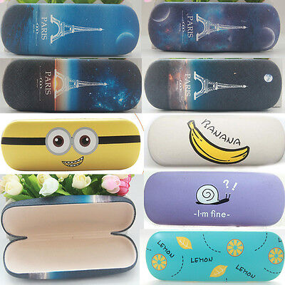 9 Style Cute Faux Leather Hard Glasses Case Eyeglass Eyewear Protector Box SALE