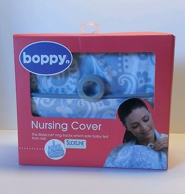 Boppy Baby Nursing Cover French Swirls Light Blue NEW