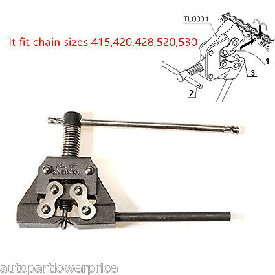 Motorcycle ATV Heavy Duty Open Chain Breaker Link Splitter Remover Tool 415-530