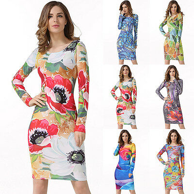 Women Bandage Bodycon Casual Long Sleeve Evening Party Cocktail Short Mini Dress