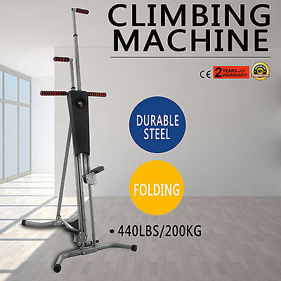 LCD Gym Climber Stepper Climbing Machine Lose Weight Cardio Sports GOOD NEWEST