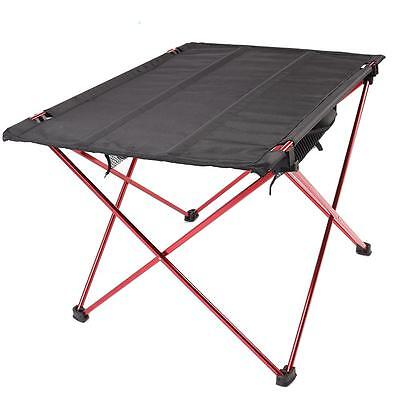 Outdoor Camping Picnic Table Ultra-light Portable Aluminum Roll Up Folding Table