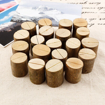 20x Wedding Place Cards Wooden Name Table Number Holder Vintage Decoration