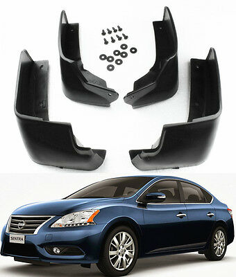 NEW SET Splash Guards Mud Guards Mud Flaps MudGuards For 2013-2017 Nissan Sentra