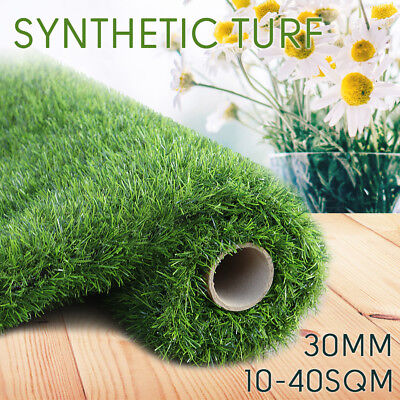 10-40SQM 30MM Roll Artificial Grass Synthetic Turf Plastic Plant Fake Lawn OZ