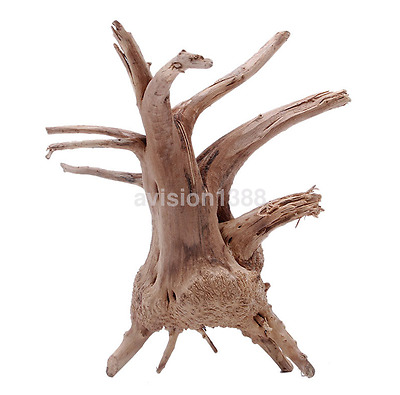 Hot Sales Fish Tank Driftwood Natural Wood Tree Trunk Aquarium Decor Plants UK