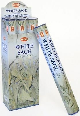 WHITE SAGE 40 Incense Sticks HEM BRAND India Relaxation Fragrance Odours