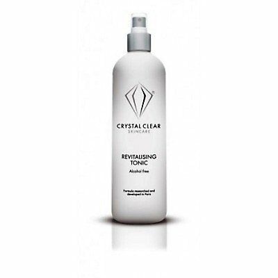 Crystal Clear Skincare Tonique Revitaliser le nettoyage 400ml alcool toner gratu