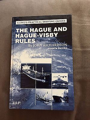 """""""the Hague And Hague-Visby Rules"""" Llp Maritime Legal Law Hardback Book"""