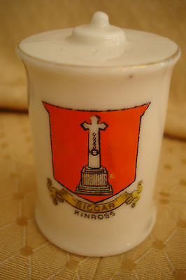 Ww1 Arcadian Crested China Canister Bomb Kinross Crest
