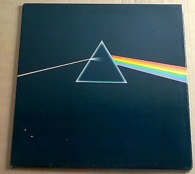 PINK FLOYD - Dark Side Of The Moon UK 1st Press Solid Blue Triangle COMPLETE EX