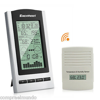 Wireless Digital Temperature Humidity Barometer Weather Station Forecast LCD DST