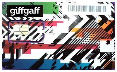 3 x giffgaff 4G ALL in 1 Triple SIM Card - With £5 Bonus Credit* - Fast Delivery