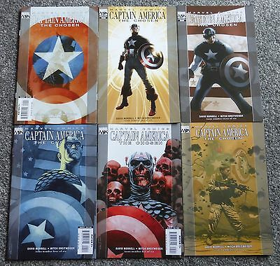 Captain America: The Chosen #1-6 of 6 (Marvel Comics, Complete Set, 2007) VF/NM
