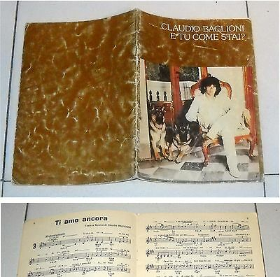 Spartiti CLAUDIO BAGLIONI E tu come stai ? - April 1979 Songbook sheet