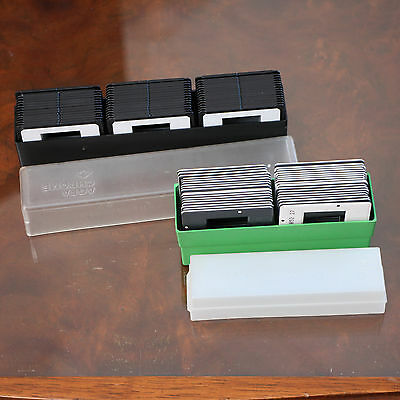 80x Fujichrome/Agfachrome slide mounts, used in boxes