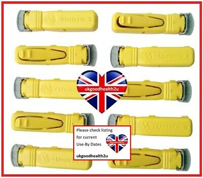 Unistik 3 NORMAL Yellow Lancets x10 Blood Glucose Finger Pricker DIABETES CE